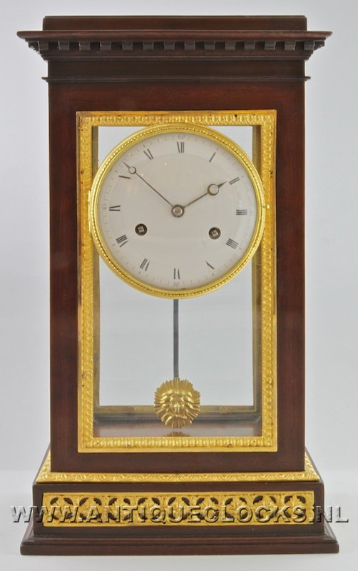 French mahogany clock