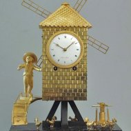 A remarkable, rare Empire table clock