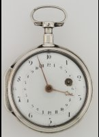 Antique rare 'french revolution' decimal pocket watch. The hourhand goes round ones in 24 hours. ca. 1793.