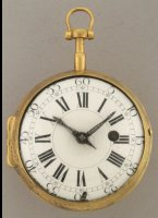 Zwitsers gilded verge 'Oignon' pocket watch, signed 'Amed Marchand a Geneve'. ca 1700