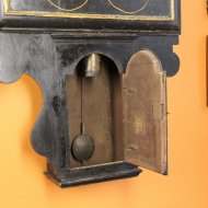 Very early English tavern clock with rectangular shield dial, ca, 1725-1735