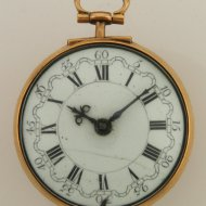 Antique triple case dutch verge pocket watch by Dirk Koster, Amsterdam.