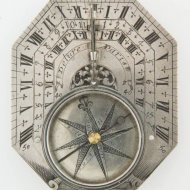 Antique french silver sundial by Delure a Paris