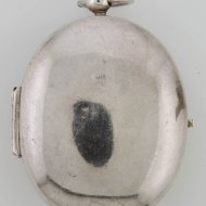 Early antique silver dutch puritan pocket watch by Jan Janss Bockels, Hage, ca. 1626-40