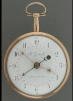Verge fusee watch from 's Hertogenbosch or 'den Bosch' in the Netherlands. ca. 1790-1800. Diameter 55 mm