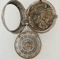 Antique dutch silver pair case verge pocket watch by Willem Dadelbeek, Utrecht. ca 1740