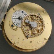Silver verge fusee watch from the French-Revolution period, ca 1795. Signed : 'Berthoud a Paris'.