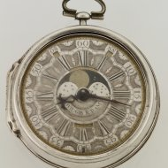 Antique silver verge dutch pocket watch by William Gib, Rotterdam, nr 1325
