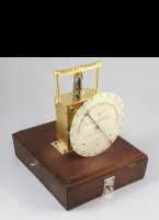 Electrical chronometer from professor Jacques Arsène d'Arsonval used to measure the response time of nervous impressions. Constructed by Charles Versin, 7 Rue Linné, Paris en 1890.