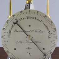 Electrical chronometer from Professor Jacques Arsène d'Arsonval d'Arsonval, made by Charles Verdin.
