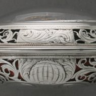 Silver quarter repeating pair case vergewatch, signed: 'Paine, London'. Engraved and open-worked cases. ca. 1740.