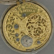 8-Day german silver pair case verge watch by 'G.W. Bolte, Rinteln' ca 1750