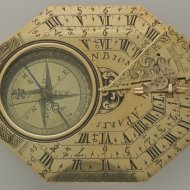Large pocket sundial from Nicolas Bion in original box.