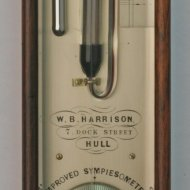 English 'improved sympiesometer' by W.B. Harrison, Hull.