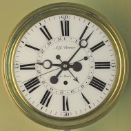 French month-going regulator with date from the Compté region. ca. 1810