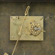 Austian small wallclock with fisher automation.