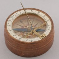 German sundial in original paper box. 1780