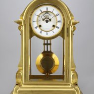 Antique mantel clock by Le Roy & Fils with Auguste Pointaux coup-perdu escapement