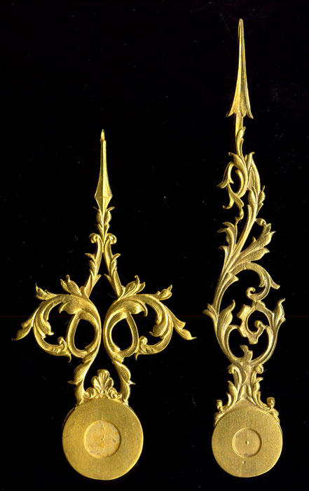 gilded hands for french clocks, , 71/56 mm, #hands02