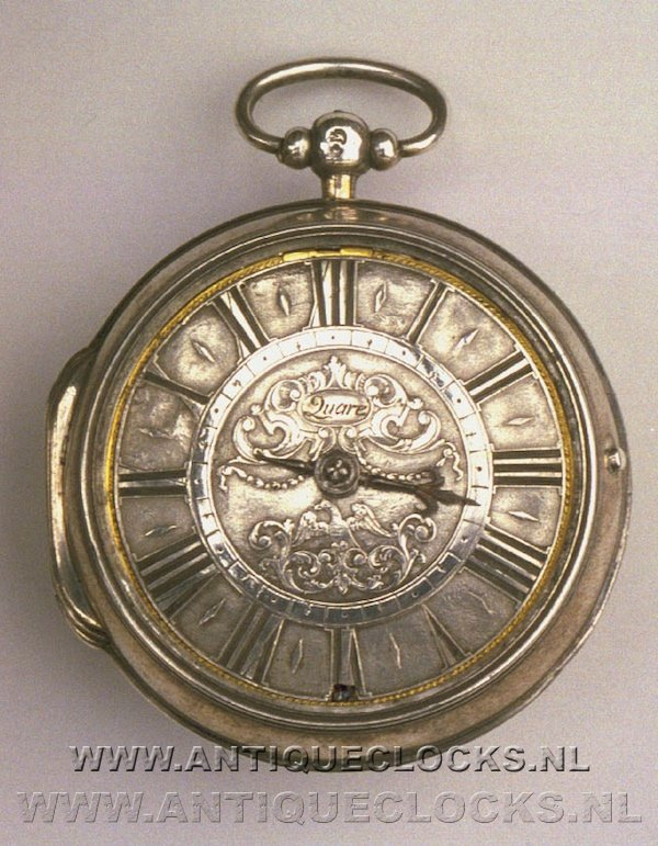 Silver selfstriking pocketwatch by 'Daniel Quare, London'